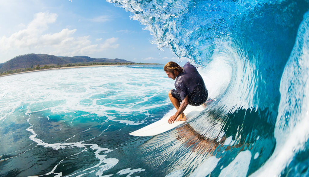 Surfing With The Billabong Brand
